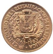 1 centavo (Centenaire de la restauration de la République) – avers