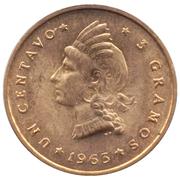1 centavo (Centenaire de la restauration de la République) – revers