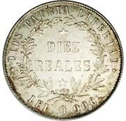 10 reales (Essai) – revers