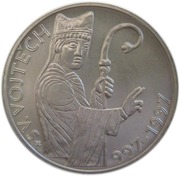200 Korun (St. Adalbert's death) – revers