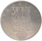 200 Korun (Wenceslas II's currency reform) – avers