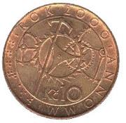 10 korun (année 2000) – revers