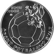 200 Korun (Football) – revers