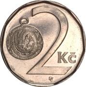 2 korun – revers