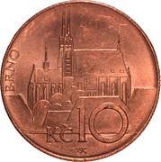 10 korun – revers