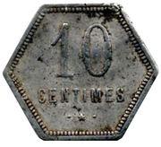 10 centimes (Département français d'outre mer) – revers