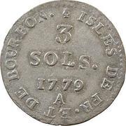 3 sols - Louis XVI – revers