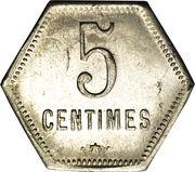 5 centimes (Département français d'outre mer) – revers