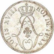 10 centimes Louis XVIII – avers