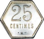 25 centimes (Département français d'outre mer) – revers