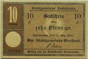 10 Pfennig (Zeulenroda) – avers