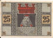 25 Pfennig (Zeulenroda) – revers