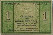 1 Pfennig (Triebes) – avers