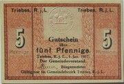 5 Pfennig (Triebes) – avers