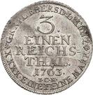 ⅓ Thaler - Heinrich XXIV. – revers