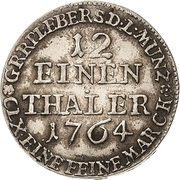 1/12 Thaler - Heinrich XXIV. – revers