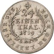1/24 Thaler - Heinrich XXIX. – revers
