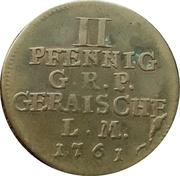 2 pfennig Heinrich XXX – revers