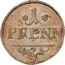1 pfennig Heinrich II. – revers