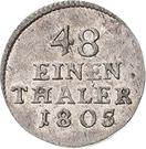 1/48 Thaler - Heinrich XXXV – revers