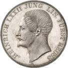 2 Thaler / 3½ Gulden - Heinrich LXXII (Jubilé d'argent) – avers