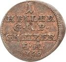 1 Heller - Heinrich XI. – revers