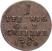 1 Pfennig - Heinrich XI. – revers