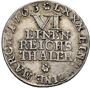 ⅙ Thaler - Heinrich Xi. – revers