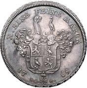 1 Thaler - Heinrich XI. (Konventionstaler) – revers