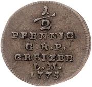 ½ Pfennig - Heinrich XI. – revers
