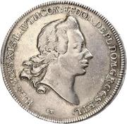 1 Thaler - Heinrich XI. (Ausbeute) – avers