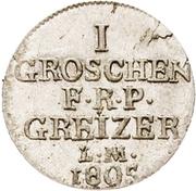 1 Groschen - Heinrich XIII. – revers