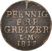 1 Pfennig - Heinrich XIII. -  avers