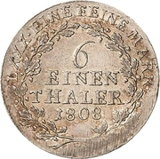 ⅙ Thaler - Heinrich XIII. – revers