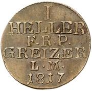 1 Heller - Heinrich XIX. – revers