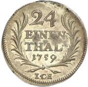 1/24 thaler Heinrich XI – revers