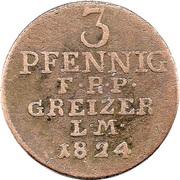 3 Pfennig - Heinrich XIX – revers
