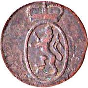 1 pfennig Heinrich XIX – avers