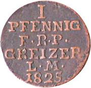 1 pfennig Heinrich XIX – revers