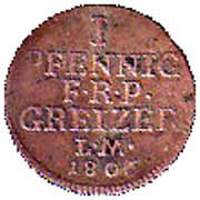 1 pfennig Heinrich XIII – revers