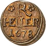 1 Heller - Heinrich I. – revers