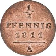 ½ Pfennig - Heinrich LXII – revers