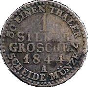 1 Silbergroschen - Heinrich LXII – revers