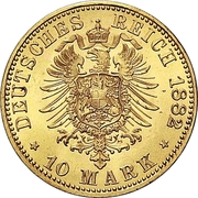 10 Mark - Heinrich XIV – revers