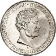 2 Thaler / 3½ Gulden - Heinrich LXII (Jubilé d'argent) – avers