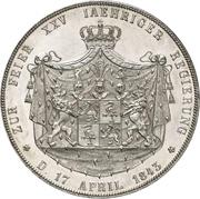 2 Thaler / 3½ Gulden - Heinrich LXII (Jubilé d'argent) – revers