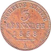 3 Pfennige - Heinrich LXVII – revers