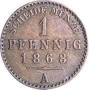 1 Pfennig - Heinrich XIV – revers