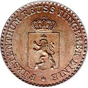 1 Pfennig - Heinrich LXII – avers