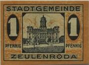 1 Pfennig (Zeulenroda) – revers